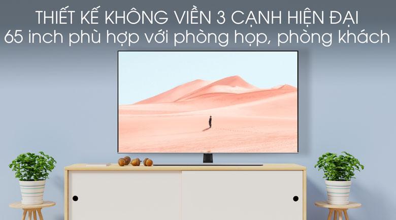 Tivi QLED Samsung QA65Q70T sở hữu màn hình siêu mỏng, không viền