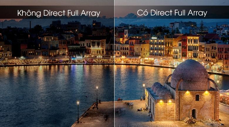 Tivi QLED Samsung QA65Q70T cho màu đen hiển thị sâu hơn với Direct Full Array