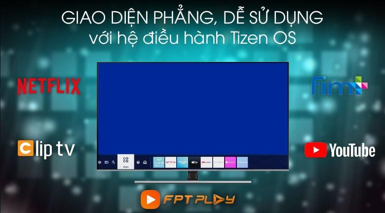 Tivi QLED Samsung QA65Q70Tvới hệ điều hành Tizen OS truy cập ứng dụng nhanh hơn