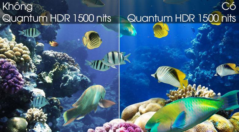 Tivi QLED Samsung QA75Q80T tích hợpcông nghệ Quantum HDR 1500 nits