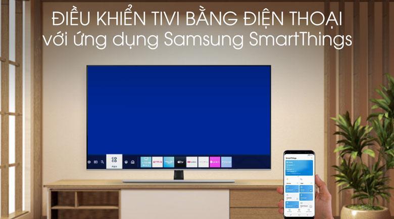 Có thể điều khiển tivi bằng smartphone thông qua ứng dụng SmartThings