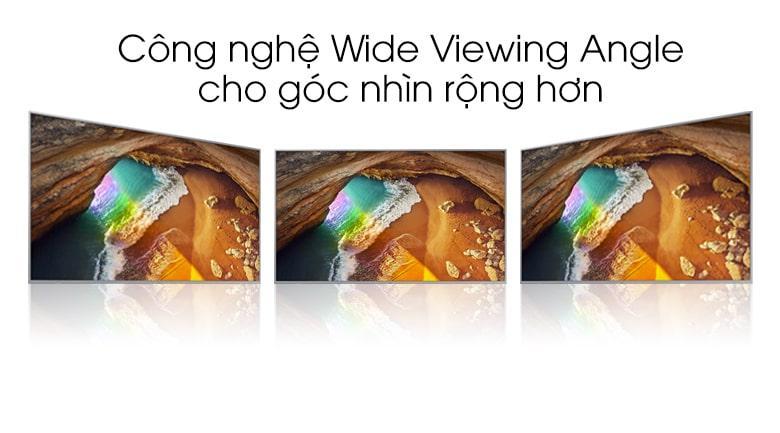 Cho Tivi 85Q70T góc nhìn mở rộng 180° vớiWide Viewing Angle
