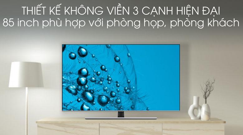 Tivi QLED Samsung QA85Q70T có thiết kế hiện đại, sang trọng