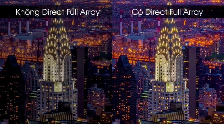 Trang bị công nghệ Direct Full Array hạn chế hiện tượng hở sáng