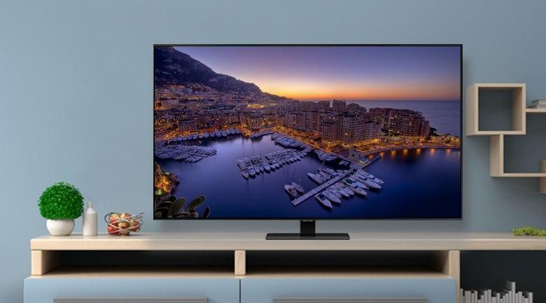 Tivi QLED Samsung QA85Q80T có thiết kế màn hình tràn viền tuyệt vời