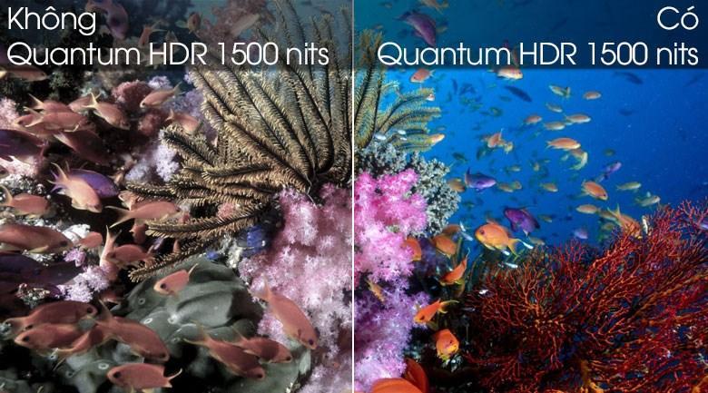 tivi QA85Q80T tăng cường độ tương phản trên