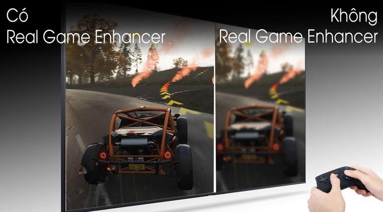 Tivi QLED Samsung QA85Q80T giúp bạn chơi game mượt mà hơn nhờ Real Game Enhancer+