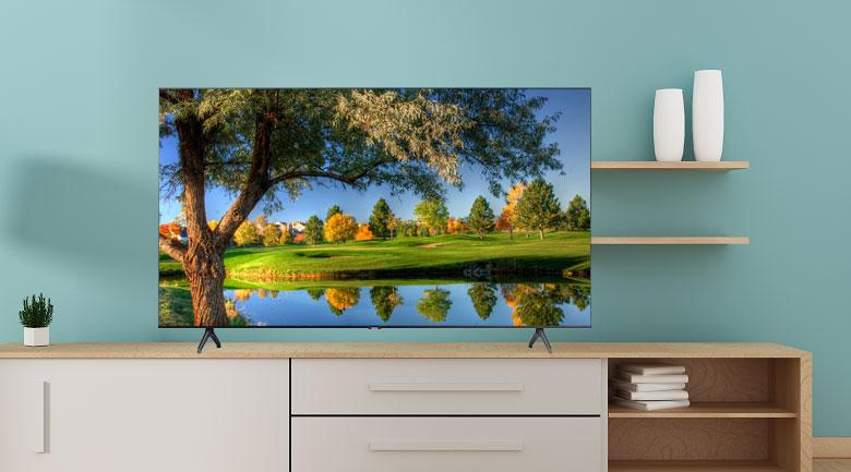 Tivi Samsung 50 inch UA50TU7000 có thiết kế tràn viền 3 cạnh tinh tế hơn