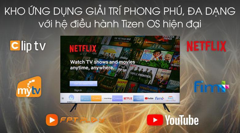 Tivi Samsung UA50TU8100 trang bị nhiều ứng dụng đa dạng