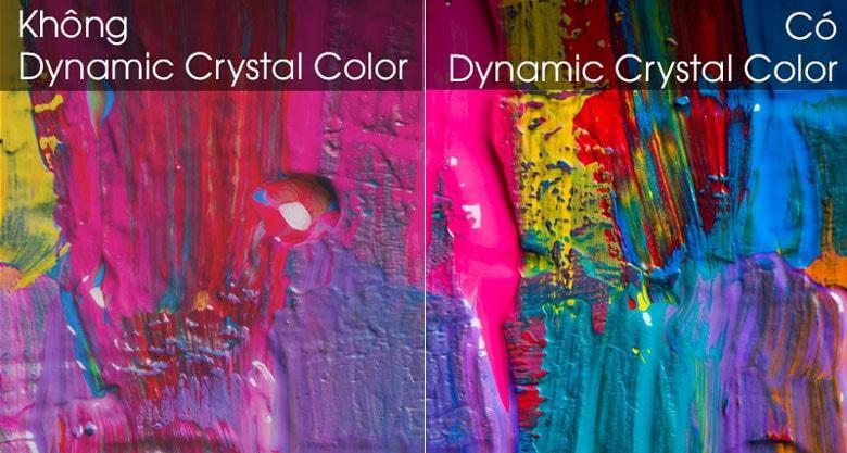 Công nghệ Dynamic Crystal Color giúp tái tạo chính xác màu sắc