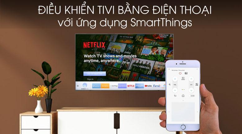 Tivi Samsung UA50TU8500 giúp bạn điều khiển tivi bằng smart phone