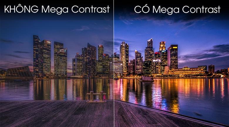 Công nghệ Mega Contrast cho sắc trắng tinh khiết, màu đen sâu thẳm