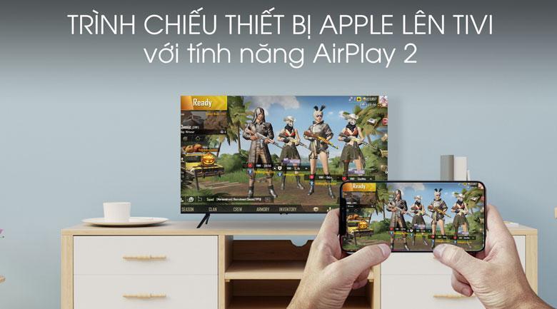Trình chiếu màn hình thiết bị Apple lên tivi qua tính năngAirplay 2