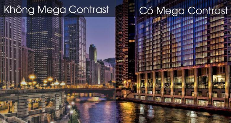 Công nghệ Mega Contrast giúp tối ưu độ sáng tối