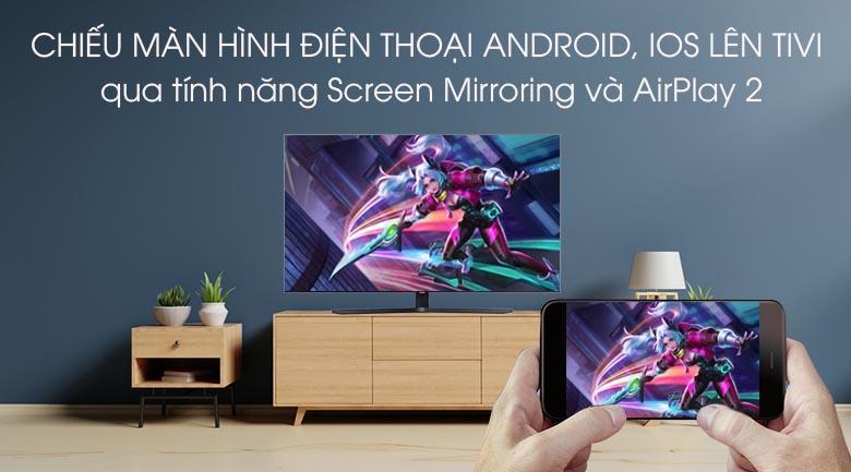 chiếu màn hình điện thoại Android, IOS lên tivi