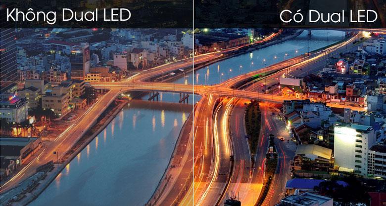 Công nghệ Dual LED giúp kiểm soát đen nền và điều chỉnh nhiệt độ