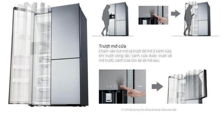 Công nghệ tủ lạnh Hitachi : Cửa tự động