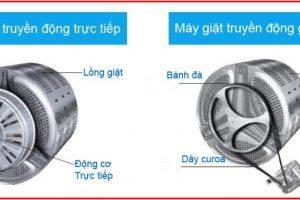 Sự khác nhau giữa máy giặt truyền động trực tiếp và gián tiếp