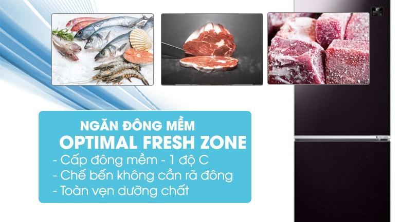 Ngăn đông mềm Optimal Fresh Zone giúp bảo quản thức ăn luôn tươi