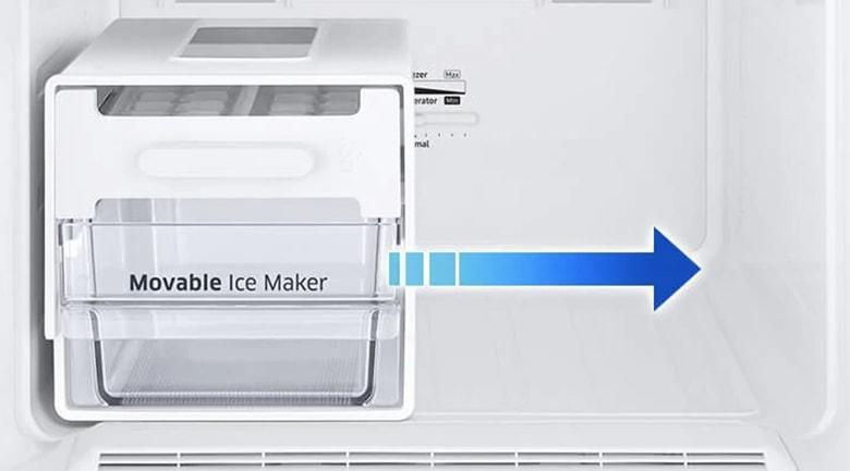 Tủ lạnh Samsung RB27N4010BY/SV với hộp đá xoay di động lấy đá dễ dàng hơn