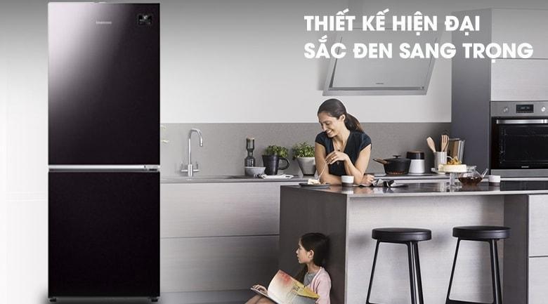 Tủ lạnh Samsung RB27N4010BY/SV mang đến mẫu thiết kế đơn giản nhưng đẹp mắt, hiện đại