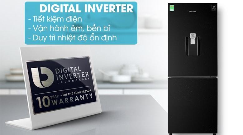 Là mẫu tủ lạnh tiết kiệm điện nhờ được trang bị Digital Inverter