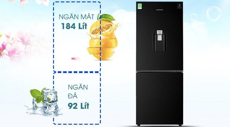Tủ lạnh Samsung RB27N4170BU/SV thích hợp cho gia đình 3-4 người