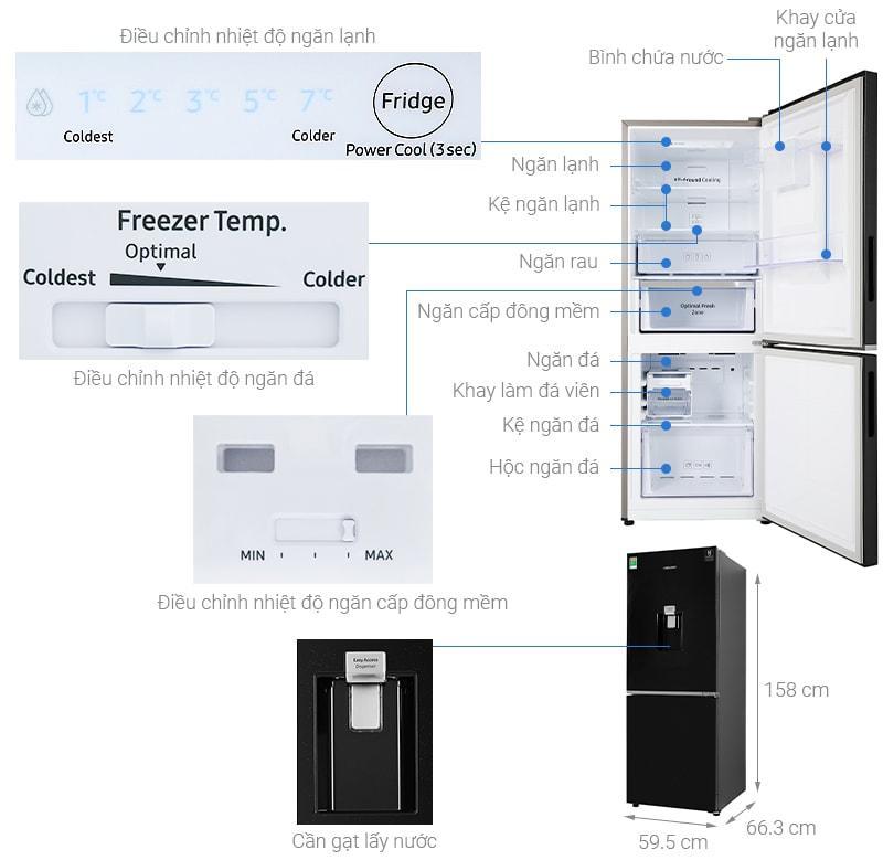 Tổng quan về sản phẩm Tủ lạnh Samsung RB27N4170BU/SV
