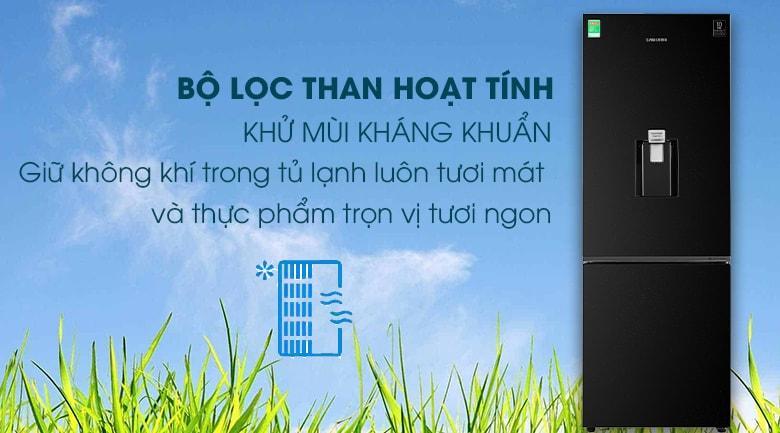 Than hoạt tính trong Tủ lạnh Samsung RB30N4170BU/SV giúp khử mùi và lọc sạch khí
