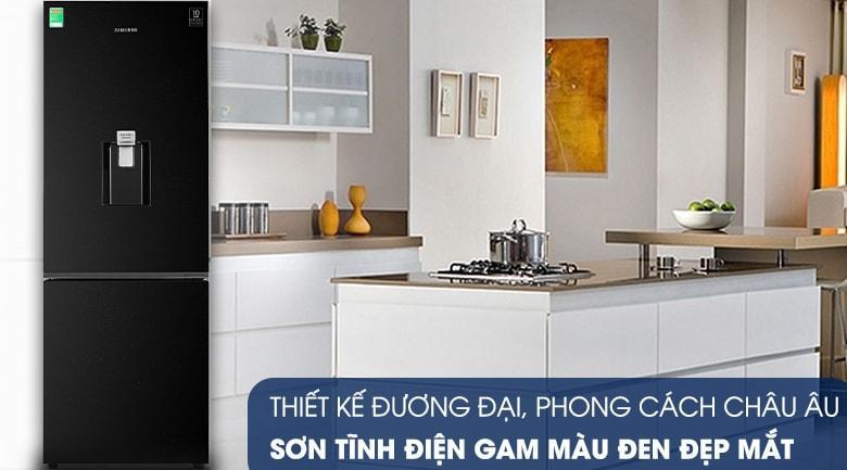 Tủ lạnh Samsung RB30N4170BU/SV được sơn tĩnh điện màu đen đẹp mắt, sang trọng