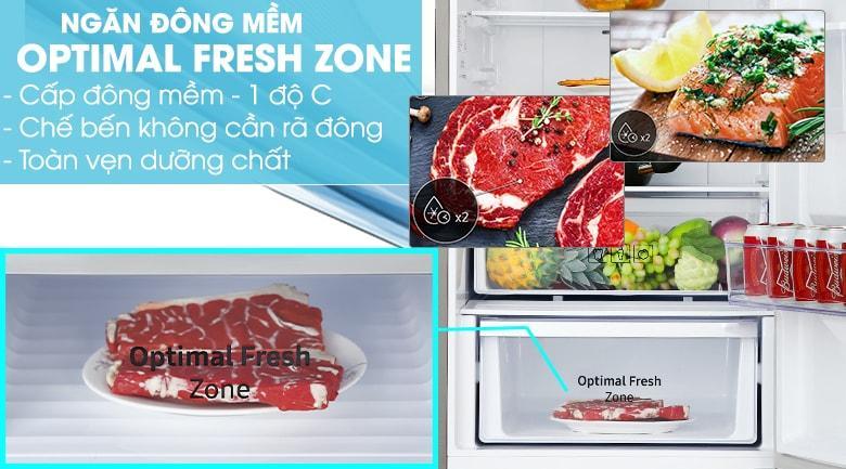Ngăn đông mềm Optimal Fresh Zone -1 độ C cho thực phẩm luôn tươi ngon