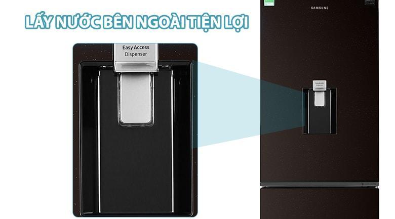 Tủ lạnh Samsung RB30N4170BY/SV trang bị khay lấy nước ngoài