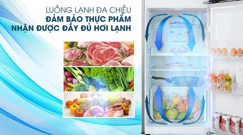 Tủ lạnh Samsung RT22M4032BY/SV cho hơi lạnh lan tỏa đều khắp tủ