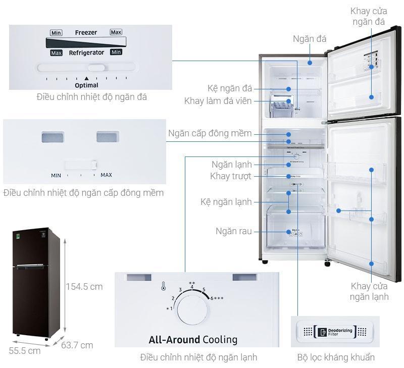 Tổng quan về Tủ lạnh Samsung RT22M4032BY/SV