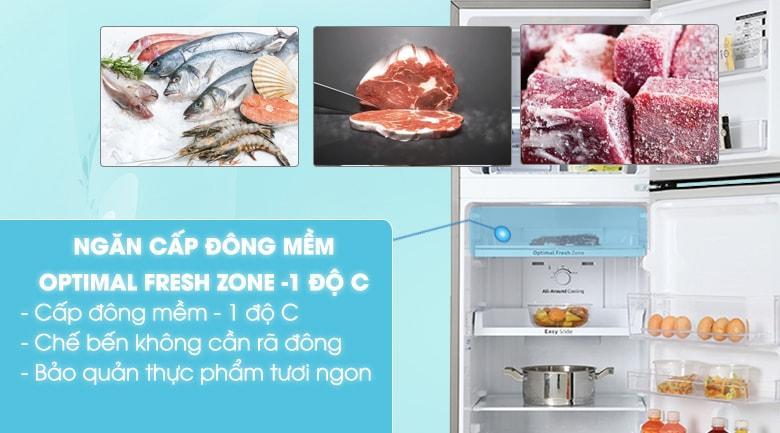 Bạn sẽ không cần rã đông thực phẩm nhờ Ngăn đông mềm -1 độ C Optimal Fresh Zone