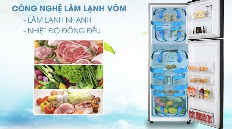 Tủ lạnh Samsung RT25M4032BU/SV có thể làm lạnh vòm nhờ All Around Cooling