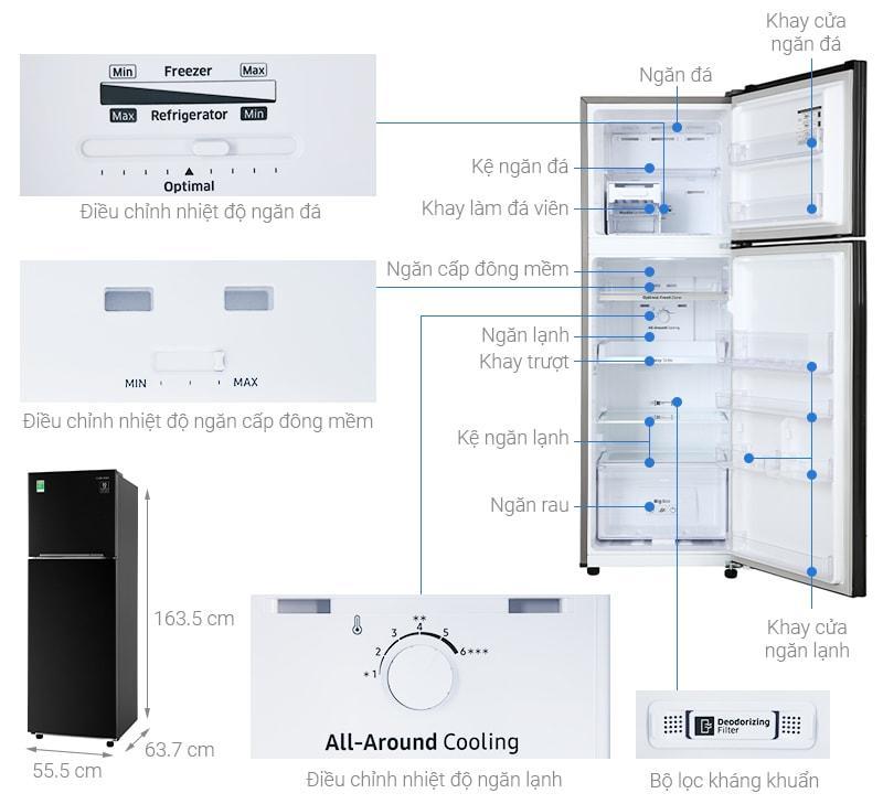 Tổng quan về Tủ lạnh Samsung RT25M4032BU/SV