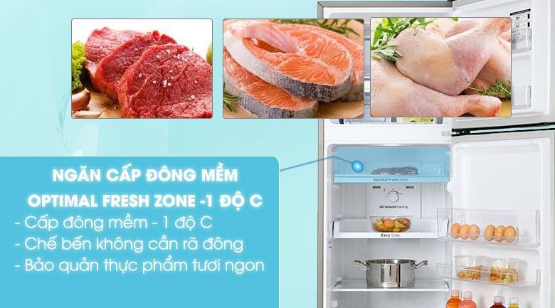 Ngăn đông mềm Optimal Fresh Zone -1 độ C giúp bạn bảo quản thức ăn tươi trong ngày