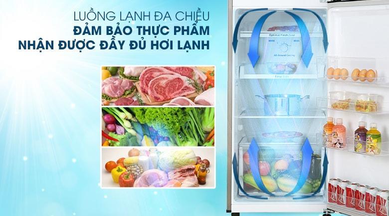 Phân bổ đều hơi lạnh đi khắp tủ nhờ công nghệ làm lạnh vòm