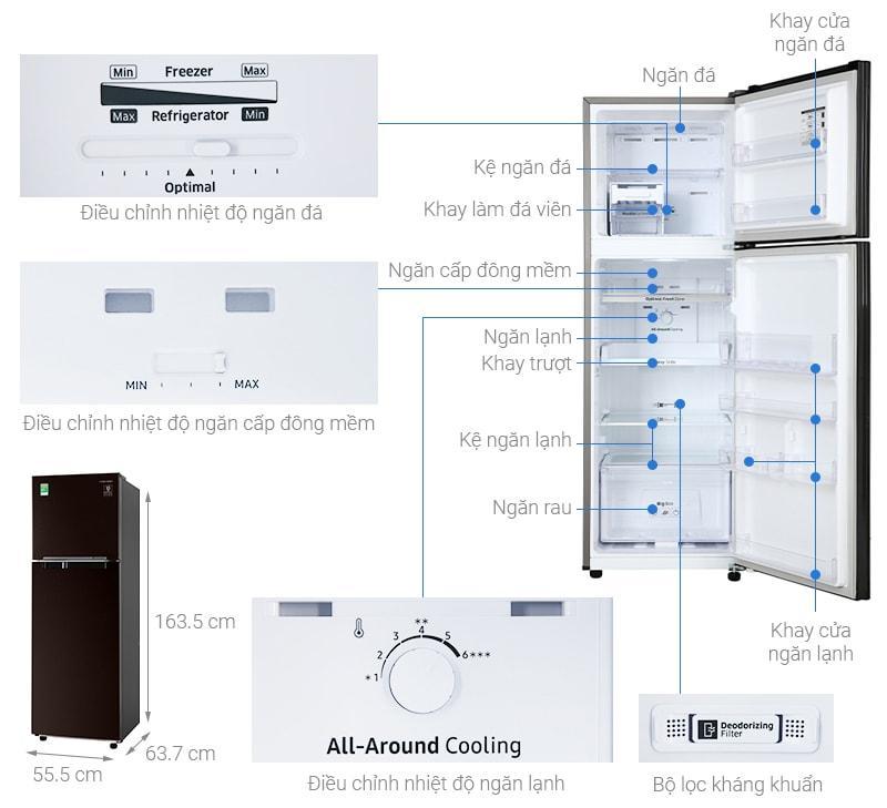 Tổng quan của Tủ lạnh Samsung RT25M4032BY/SV