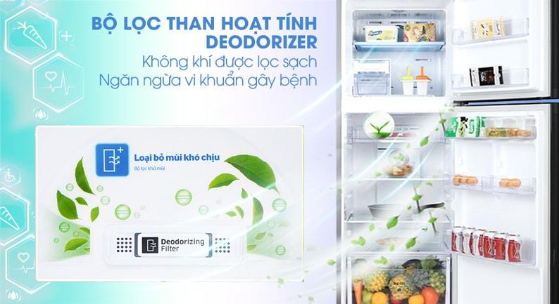 Bộ lọc than hoạt tính trên Tủ lạnh Samsung RT29K5532BY/SV giúp diệt khuẩn, khử mùi