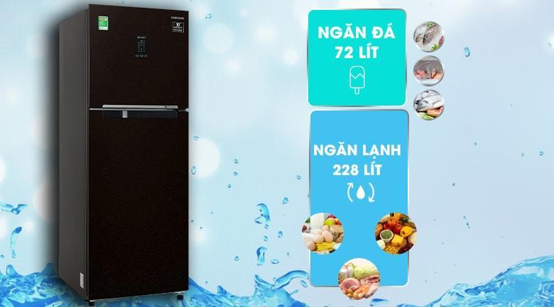 Tủ lạnh Samsung RT29K5532BY/SV trang bị dung tích 300L