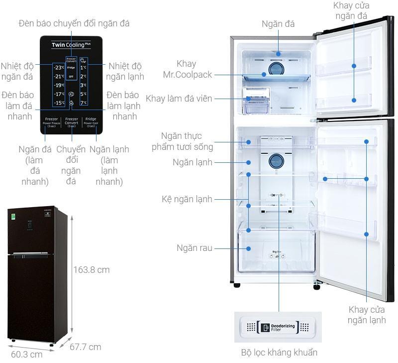 Tổng quan về sản phẩm Tủ lạnh Samsung RT29K5532BY/SV
