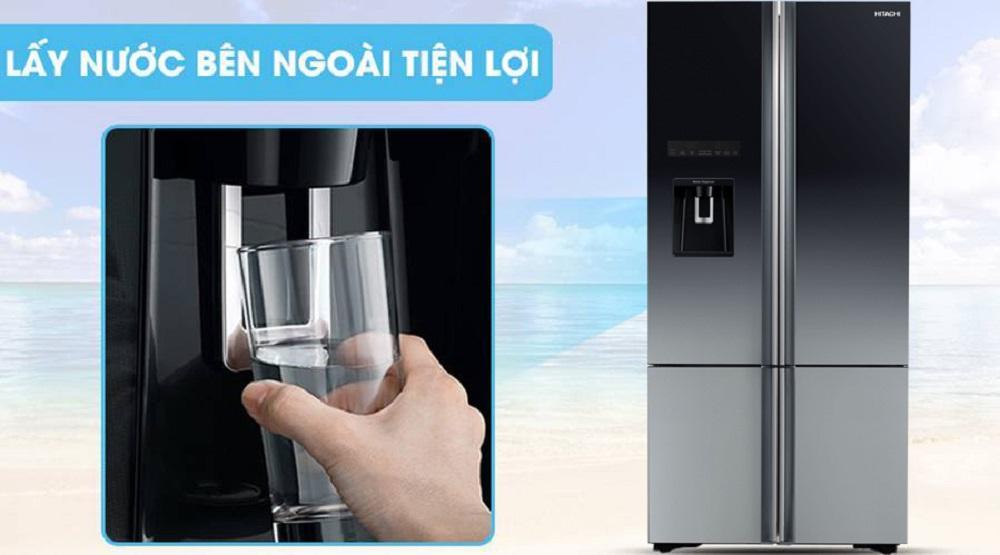 tủ lạnh side by side lấy nước ngoài tiện lợi