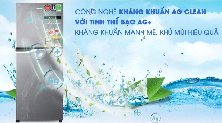 Tủ lạnh Panasonic NR-BA189PPVN Khử mùi, kháng khuẩn hiệu quản với công nghệ kháng khuẩn Ag Clean
