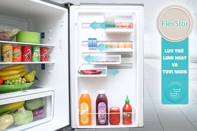 Tủ lạnh Electrolux EBE4502BA ngăn kệ FlexStor trên cửa tủ thay đổi vị trí linh hoạt