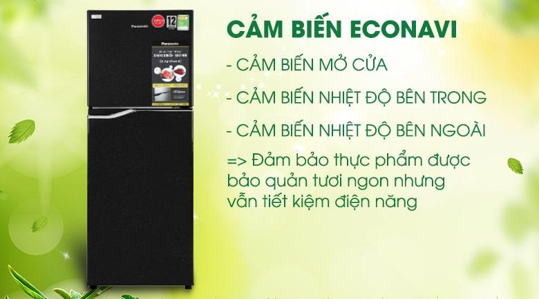 Tủ lạnh Panasonic NR-BA229PKVN tiết kiệm điện với cảm biến Econavi và công nghệ Inverter