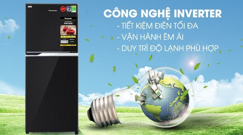 Tủ lạnh Panasonic Inverter 234 lít NR-BL263PKVN tiết kiệm điện với công nghệ biến tần Inverter và cảm biến Econavi