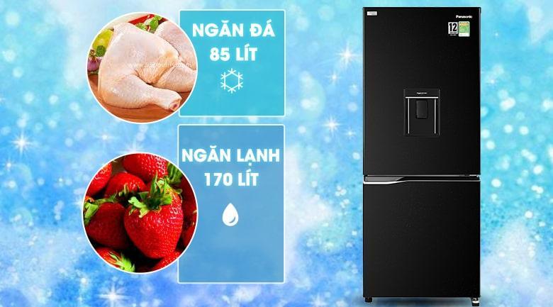 Tủ lạnh Panasonic Inverter 255 lít NR-BV280WKVN dung tích sử dụng 255 lít cho gia đình 2 - 3 người