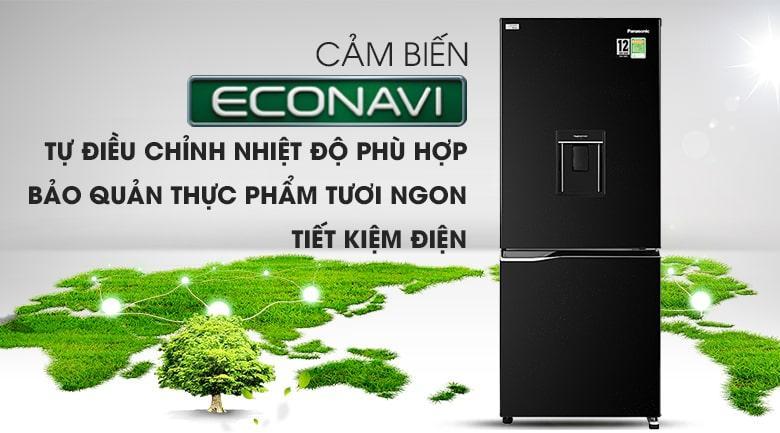 Trang bị cảm biến Econavi, tủ lạnh Panasonic Inverter 255 lít NR-BV280WKVN nâng cao hiệu quả tiết kiệm điện